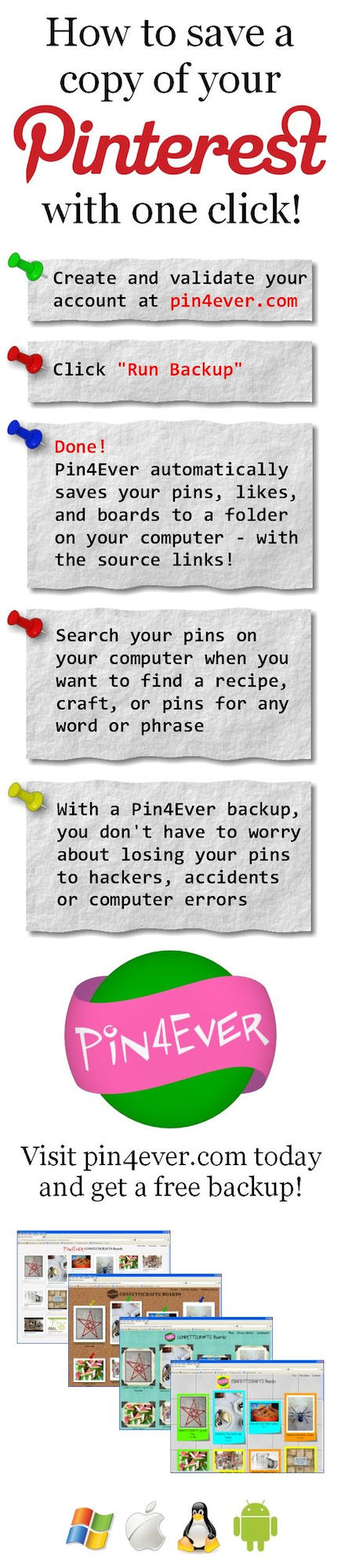 Backup your Pinterest pins