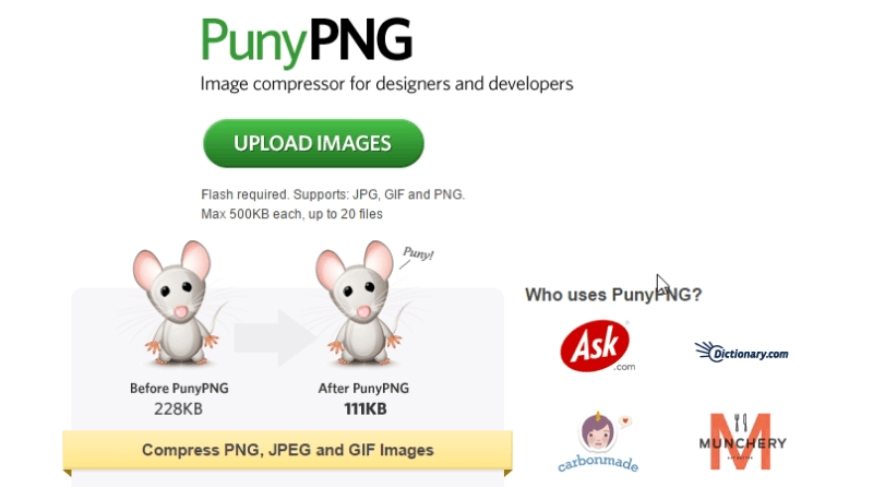 PunyPNG - Tool to compress photos, Free Tools To Compress Or Resize Photos Without Losing Image Quality