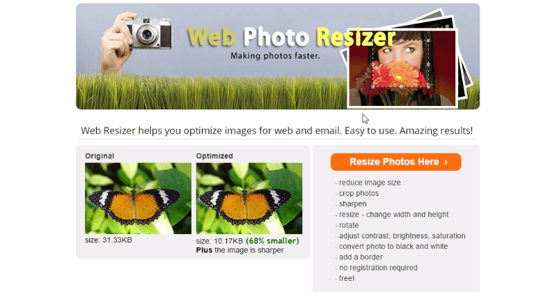 Web Resizer - Tool to compress photos, Free Tools To Compress Or Resize Photos Without Losing Image Quality