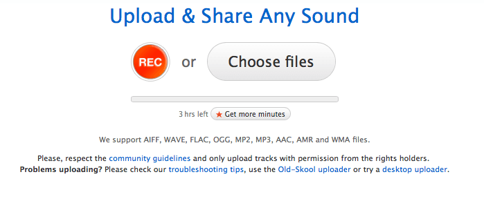 Upload podcasts to Soundcloud
