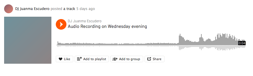 Sharing podcasts on Soundcloud