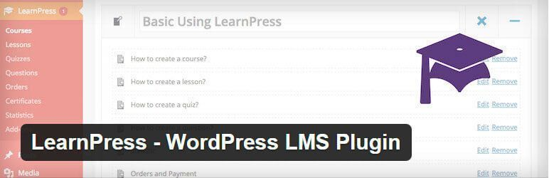 Utiliza el plugin learnpress