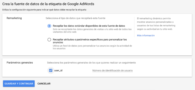 "Etiqueta de ""AdWords"""