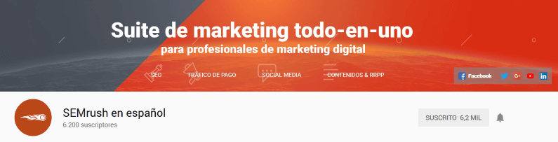 SEMrush (en español) en YouTube