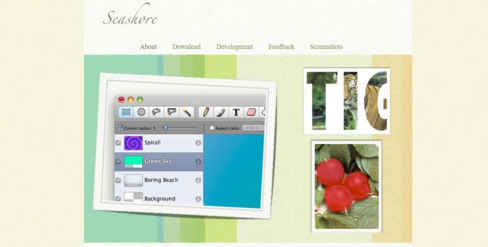 Seashore, programa alternativo a Photoshop para Mac