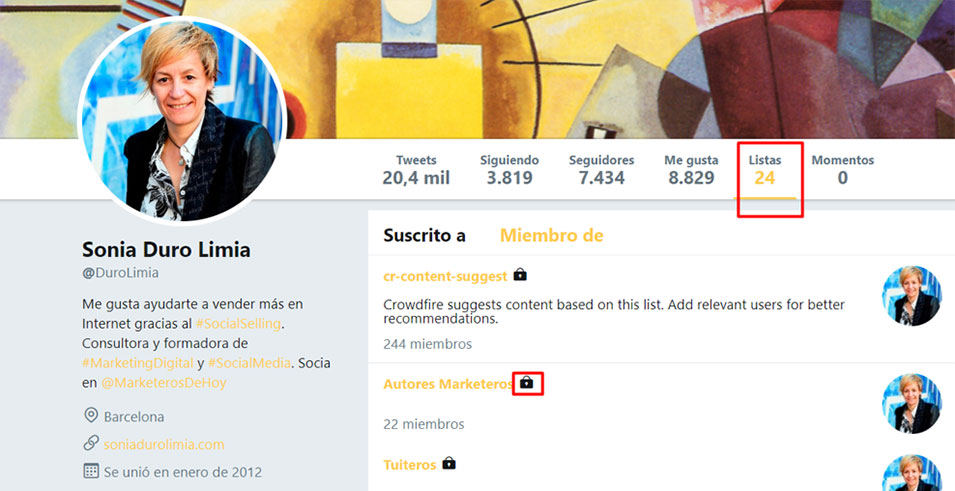 Twitter Profile (Lists)