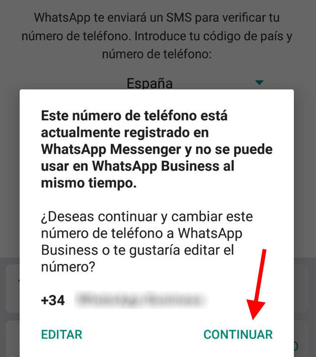 "Cambia de WhatsApp normal a ""Business"""