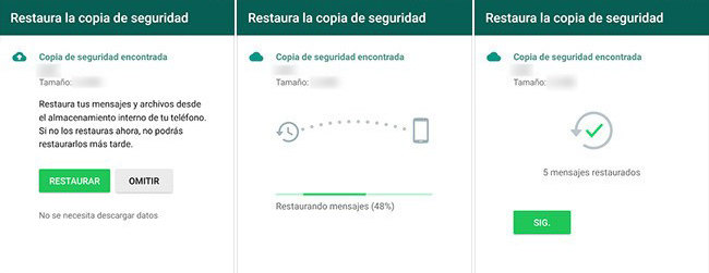Restaurar archivos y fotos borradas en WhatsApp