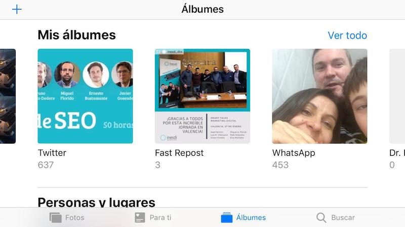 Carpeta de WhatsApp en iPhone (iOS)