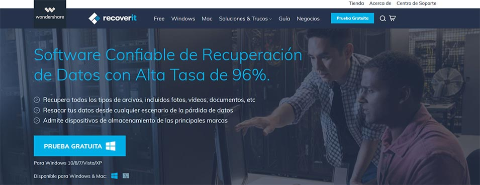 Recover it de Wondershare