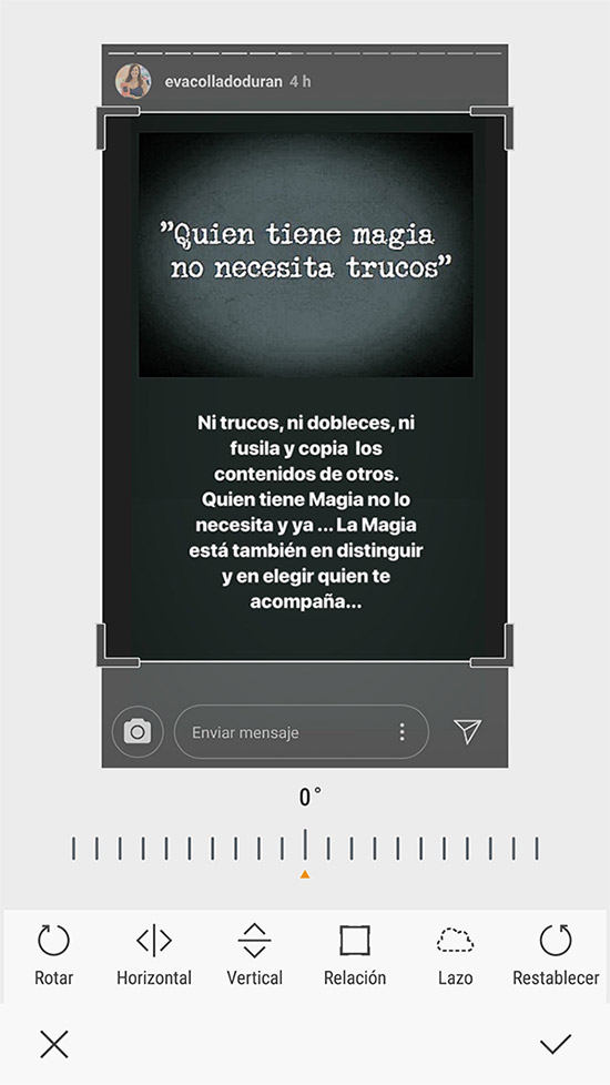 Capturar o descargar historias de Instagram