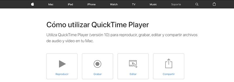 Quick Time Player - Reproductor de vídeo para Mac