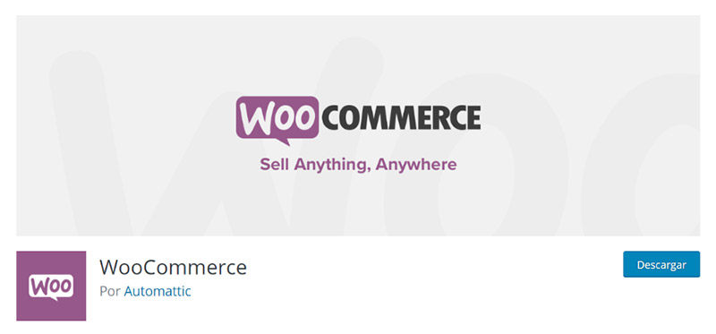 Descarga de WooCommerce