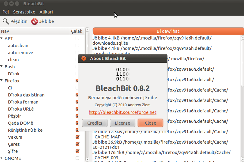 BleachBit para Windows 10