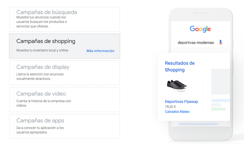 Campañas de Shopping en Google Ads