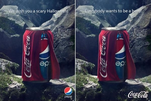 Pepsi and Coca Cola, the never ending war