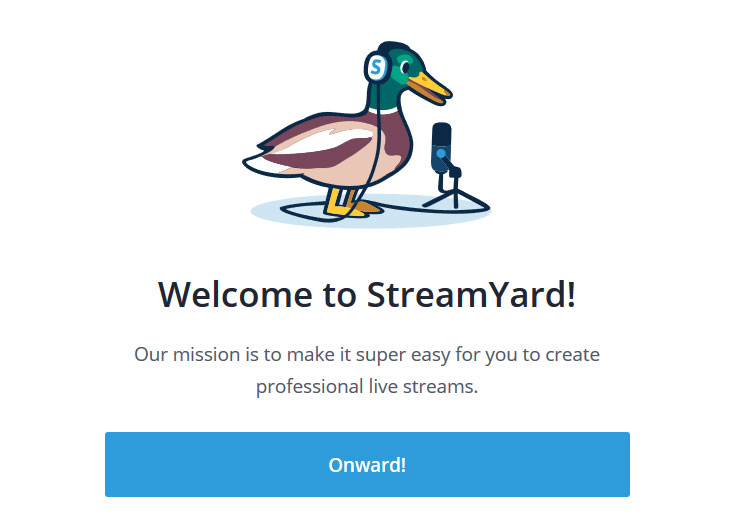 Welcome to StreamYard!
